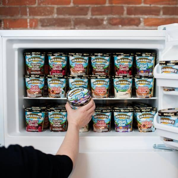"""<p>The lucky employees who work for <a href=""""/food/a42948/things-you-didnt-know-about-ben-jerrys/"""" data-ylk=""""slk:Ben & Jerry's"""" class=""""link rapid-noclick-resp"""">Ben & Jerry's</a> can take home up to three pints of ice cream every single day. Talk about office perks!</p>"""