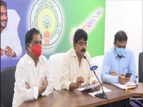 Andhra Pradesh Information and Public Relation Minister Perni Venkatramaiah during a press conference on Thursday.