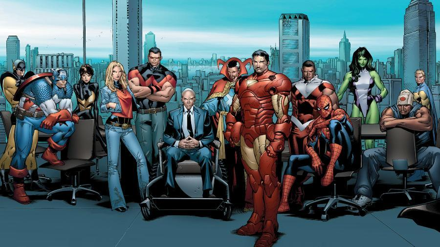 avengers gathered together