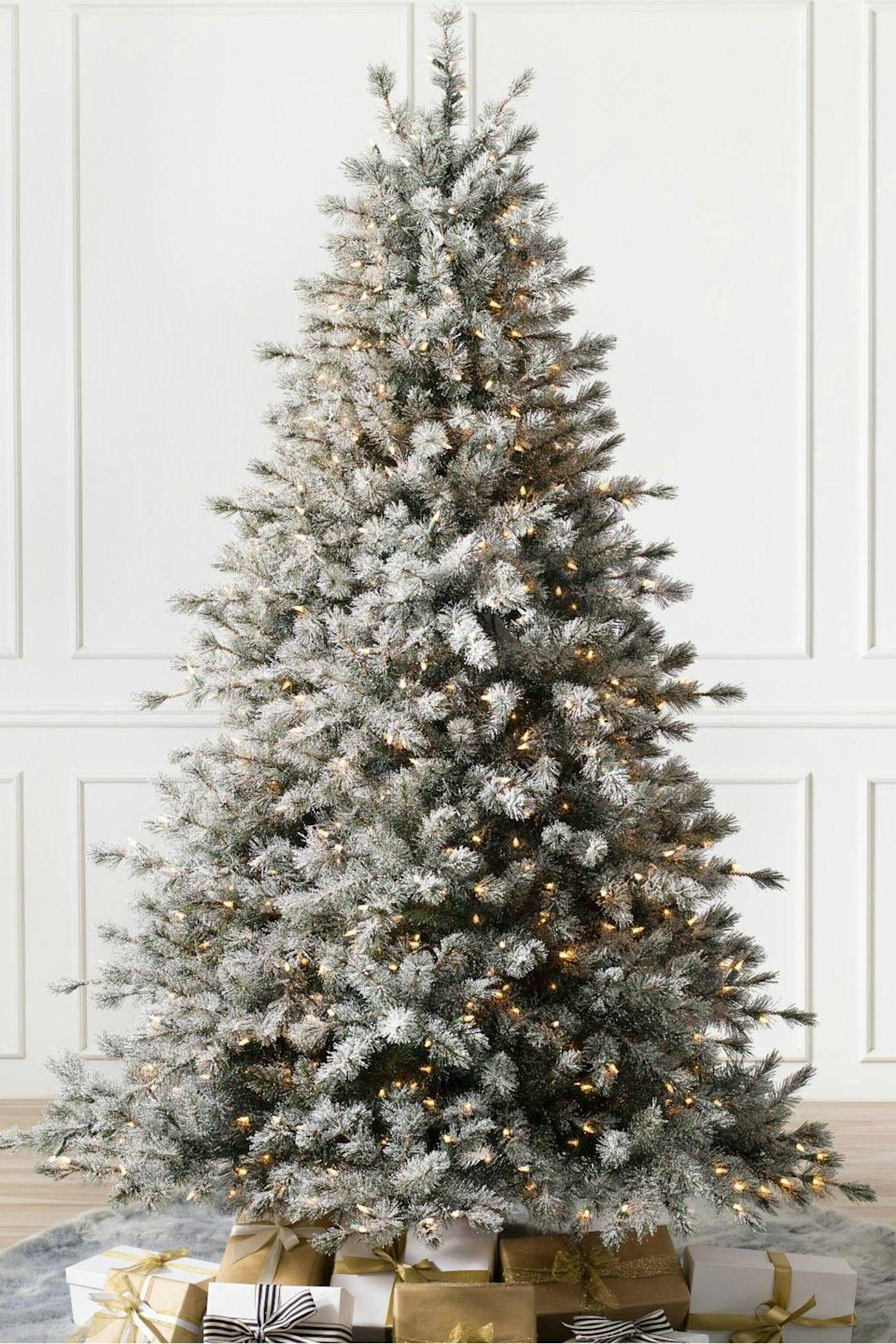 """<p><strong>Write a Review</strong></p><p>balsamhill.com</p><p><strong>$649.00</strong></p><p><a href=""""https://www.balsamhill.com/p/frosted-sugar-pine-artificial-christmas-tree"""" rel=""""nofollow noopener"""" target=""""_blank"""" data-ylk=""""slk:Shop Now"""" class=""""link rapid-noclick-resp"""">Shop Now</a></p><p>Transform your living room into a winter wonderland with an artificial Christmas tree boasting faux snow-covered branches.</p>"""