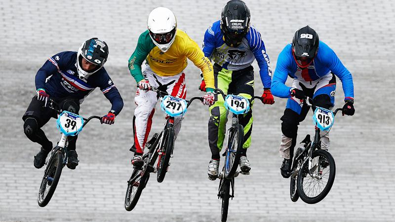 Kai Sakakibara, pictured here at the BMX World Championships in 2015.