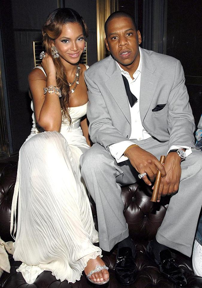 "Beyonce Knowles and Jay-Z were so crazy in love they tied the knot in a secret ceremony earlier this year. Kevin Mazur/<a href=""http://www.wireimage.com"" target=""new"">WireImage.com</a> - June 25, 2006"