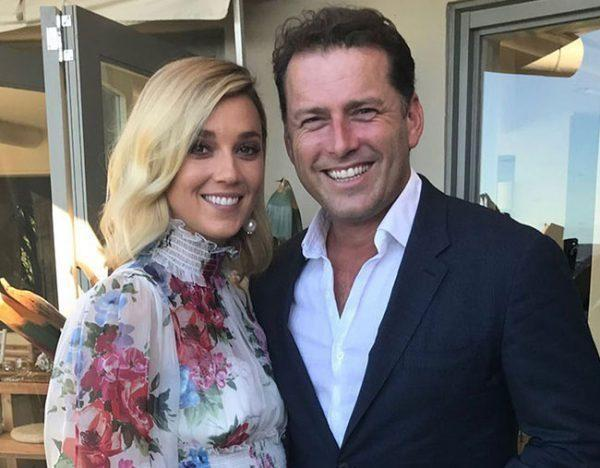 The was the first photo of newlyweds Karl Stefanovic and Jasmine Yarbrough on their 'wedding' day. Source: Nine