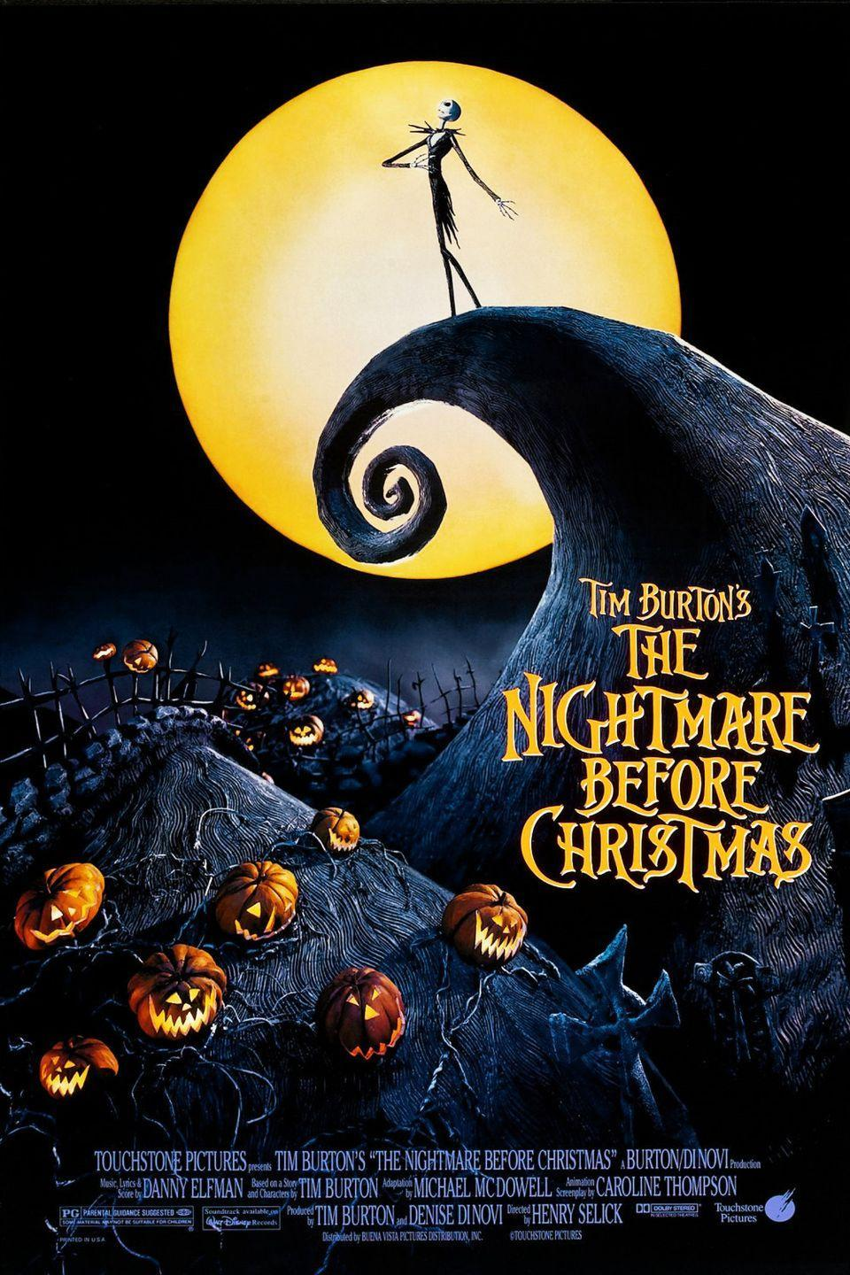 """<p>When Jack Skellington, the Pumpkin King of Halloween Town, finds himself in Christmas Town, he decides to kidnap Santa and take over the holiday, turning the joyous time of year into one filled with shrunken heads and skeletal reindeer!</p><p><a class=""""link rapid-noclick-resp"""" href=""""https://go.redirectingat.com?id=74968X1596630&url=https%3A%2F%2Fwww.disneyplus.com%2Fmovies%2Ftim-burtons-the-nightmare-before-christmas%2F5GjwOj5Rkpz2&sref=https%3A%2F%2Fwww.seventeen.com%2Fcelebrity%2Fmovies-tv%2Fg29354714%2Fnon-scary-halloween-movies%2F"""" rel=""""nofollow noopener"""" target=""""_blank"""" data-ylk=""""slk:Watch Now"""">Watch Now</a></p>"""