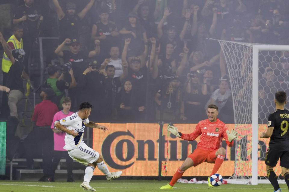 Cristian Pavón's goal immediately after LAFC went up 2-0 revived some uncomfortable emotions at Banc of California Stadium. (Reuters)