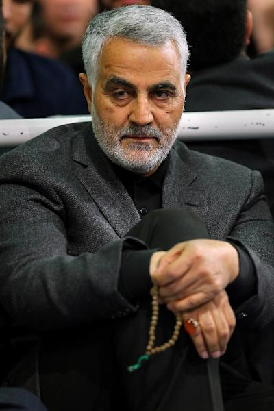Qassem Soleimani, seen here in 2015, is the head of the Revolutionary Guards' elite Quds unit that operates abroad (AFP Photo/-)