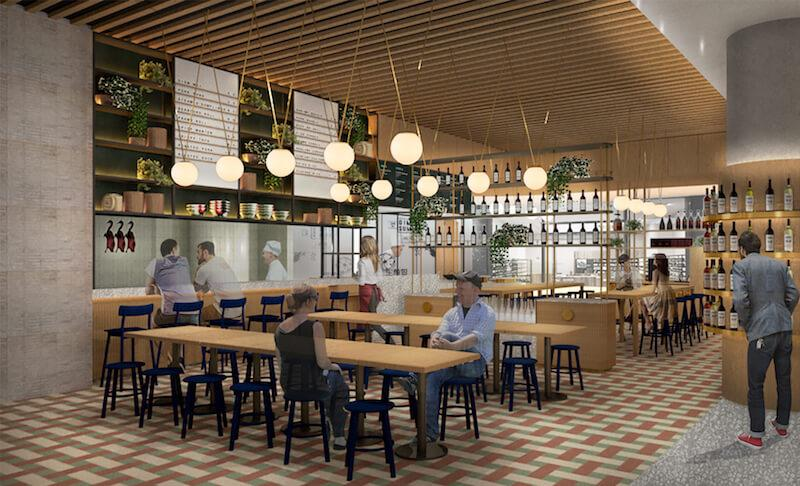 Artist rendering of the casual dining area. Photo: Shang Social