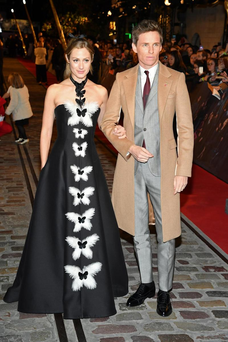 Couple: Eddie Redmayne and his wife Hannah stunned on the Paris carpet (Getty Images)
