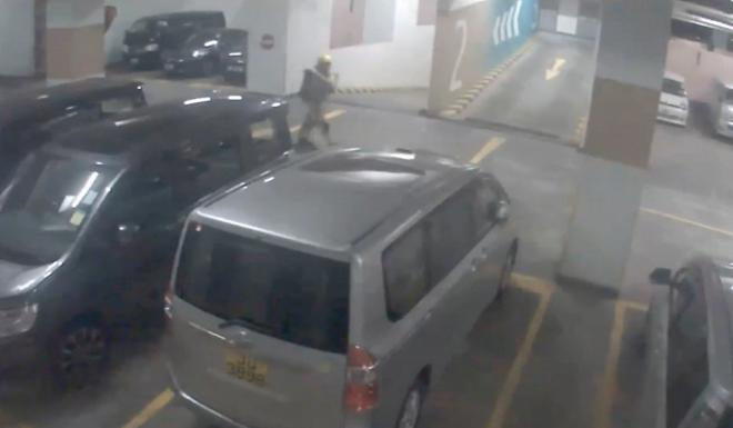 Link Reit released footage from cameras inside the car park. Photo: Link