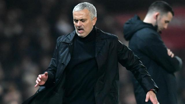Manchester United and Arsenal played out an entertaining draw, after which Jose Mourinho praised his players' spirit, not their quality.