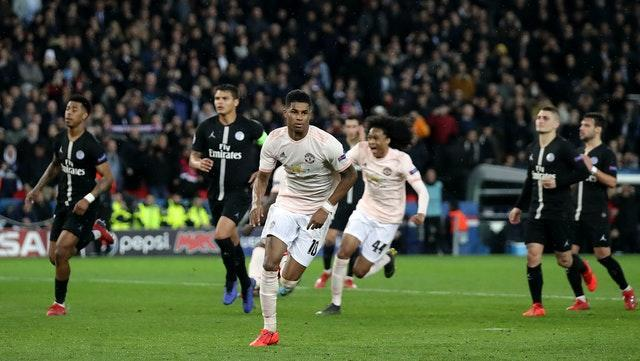 Marcus Rashford scored a contentious late winner to settle Manchester United's only previous meeting with Paris St Germain