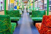 FILE PHOTO: An empty tram is seen on the first day of a seven-day COVID-19 lockdown in Melbourne