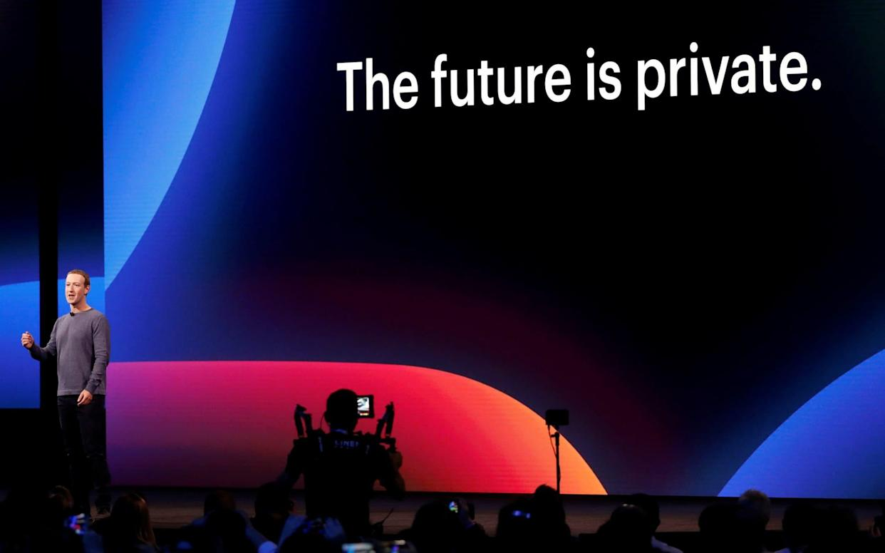 Mark Zuckerberg makes his keynote speech during Facebook Inc's annual F8 developers conference in San Jose - REUTERS