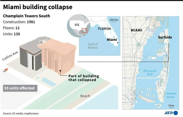 Facts and maps on the apartment building that collapsed in Miami, Florida