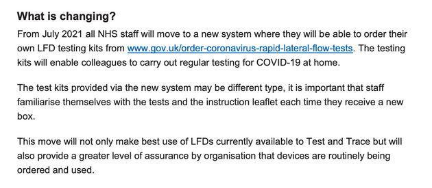 NHS lateral flow test guidance (Photo: HuffPost UK)