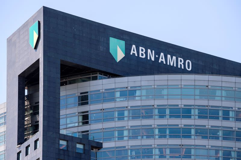 FILE PHOTO: ABN AMRO logo is seen at the headquarters in Amsterdam