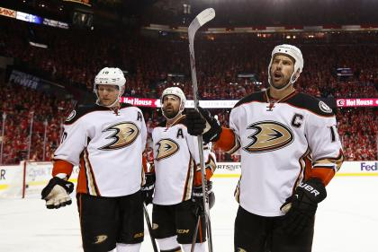 Big, talented and tough: Ducks captain Ryan Getzlaf is the NHL prototype for top-line centers. (Getty)