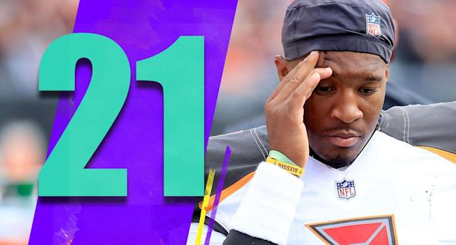 <p>Dirk Koetter had to go to Ryan Fitzpatrick over Jameis Winston, and by doing so he probably brought himself much closer to losing his job. (Jameis Winston) </p>
