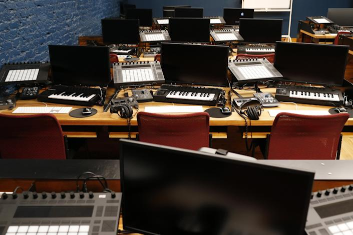 The main classroom at Tweed Recording and Audio Production School in downtown Athens, Ga., on Friday, Nov. 27, 2020.