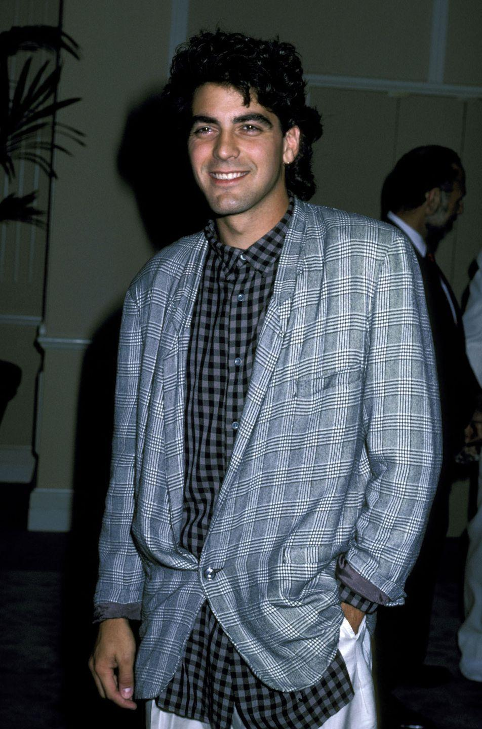 <p>Clooney at the Beverly Hilton Hotel in Beverly Hills in 1986.</p>