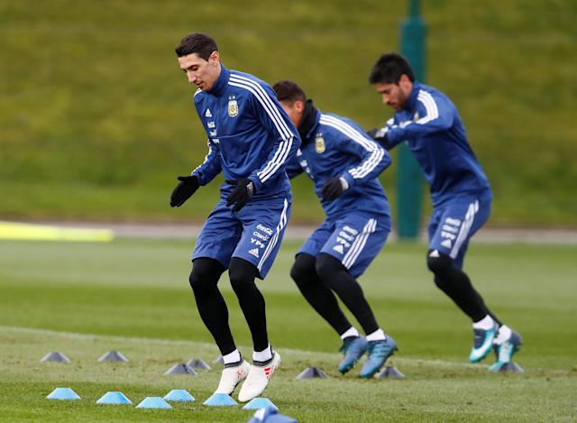Soccer Football - Argentina Training - City Football Academy, Manchester, Britain - March 20, 2018 Argentina's Angel Di Maria during training Action Images via Reuters/Jason Cairnduff