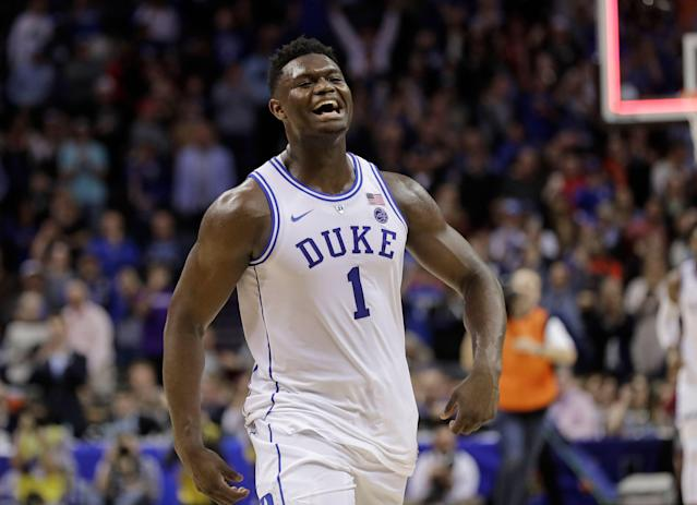 There is no doubt that Zion Williamson will be the top pick in the NBA Draft. (AP Photo/Nell Redmond)