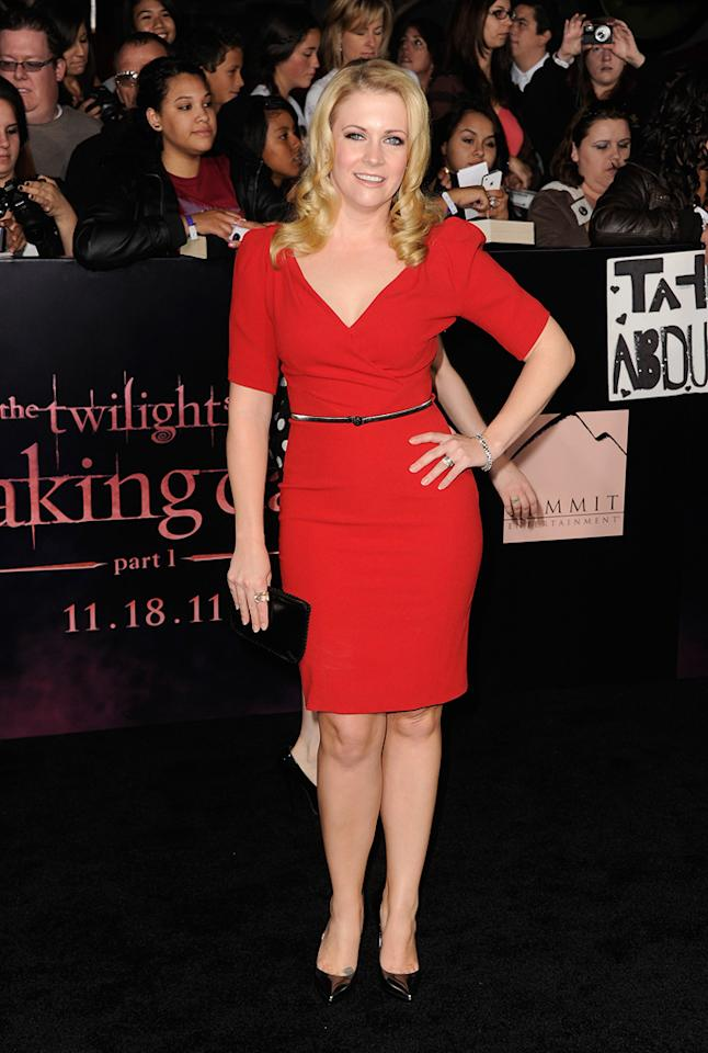 "<a href=""http://movies.yahoo.com/movie/contributor/1800018890"">Melissa Joan Hart</a> at the Los Angeles premiere of <a href=""http://movies.yahoo.com/movie/1810158314/info"">The Twilight Saga: Breaking Dawn - Part 1</a> on November 14, 2011."