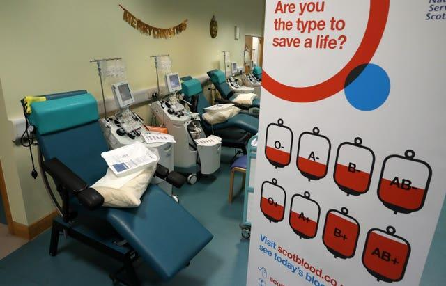 NHS Blood and Transplant says hospitals are getting the blood they need (Andrew Milligan/PA)