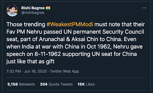 """This claim was debunked by <b>The Quint</b>. Read our fact-check <a href=""""https://www.thequint.com/news/webqoof/did-nehru-give-india-permanent-seat-at-unsc-to-china-in-1950"""" rel=""""nofollow noopener"""" target=""""_blank"""" data-ylk=""""slk:here"""" class=""""link rapid-noclick-resp"""">here</a>."""