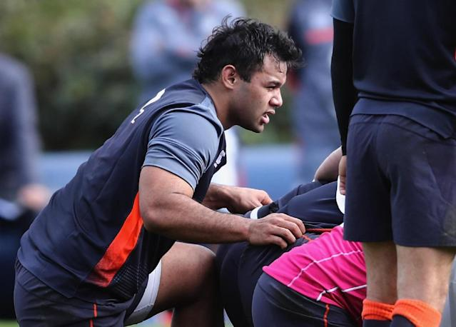 Steve Borthwick praised Billy Vunipola's diligence in his recovery from a knee injury (Getty)