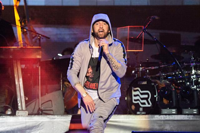 Eminem wants fighting to be fully allowed in the AAF, and wants the league to expand to Detroit. The co-founder and CEO, it seems, is listening. (Amy Harris/Invision/AP)