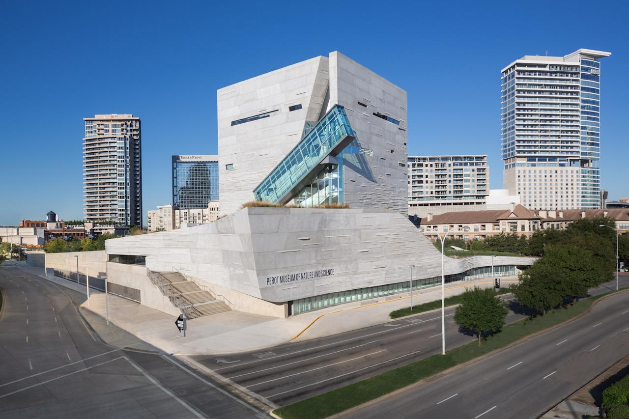"<p><strong>Zoom out. What's this place all about?</strong><br> A newer addition to the Dallas museum scene, the Perot Museum opened in 2012 to fill a much-needed gap in the city's science and children's museum category. (When the museum was incorporated in 2006, it united the city's science, children's, and natural history museums). Today the Perot Museum occupies 180,000 square feet near downtown, hosting 11 different exhibition halls.</p> <p><strong>Ye shall know them by their permanent collection: How was it?</strong><br> Given that this is essentially three museums in one, exhibits are wide-ranging: You can experience a simulated earthquake, construct your ""own"" bird and then fly it using 3D glasses, or feed terrarium animals. Needless to say, it's got science and natural history covered, with plenty of exhibitions to entertain little ones too.</p> <p><strong>But also by their new shoes. How were the exhibits?</strong><br> The museum is shiny and new, which makes it bright and easy to navigate. It's also very green—the Green Building Initiative gave the Thom Mayne-designed complex its highest possible rating.</p> <p><strong>What did you make of the crowd?</strong><br> Try to time your visit to quieter days and times. An abundance of large groups can make the big museum surprisingly hard to get around.</p> <p><strong>Is the café worth a stop, or should we just plan on going elsewhere?</strong><br> The café is operated by Wolfgang Puck, like many Dallas museums, and serves a serviceable selection of pizzas, salads, soups, and sandwiches. There's plenty of basic kid-friendly fare to keep ""hangry"" at bay.</p> <p><strong>Any advice for the time- or attention-challenged?</strong><br> The vast galleries and diversity of exhibits will keep almost anyone entertained.</p>"