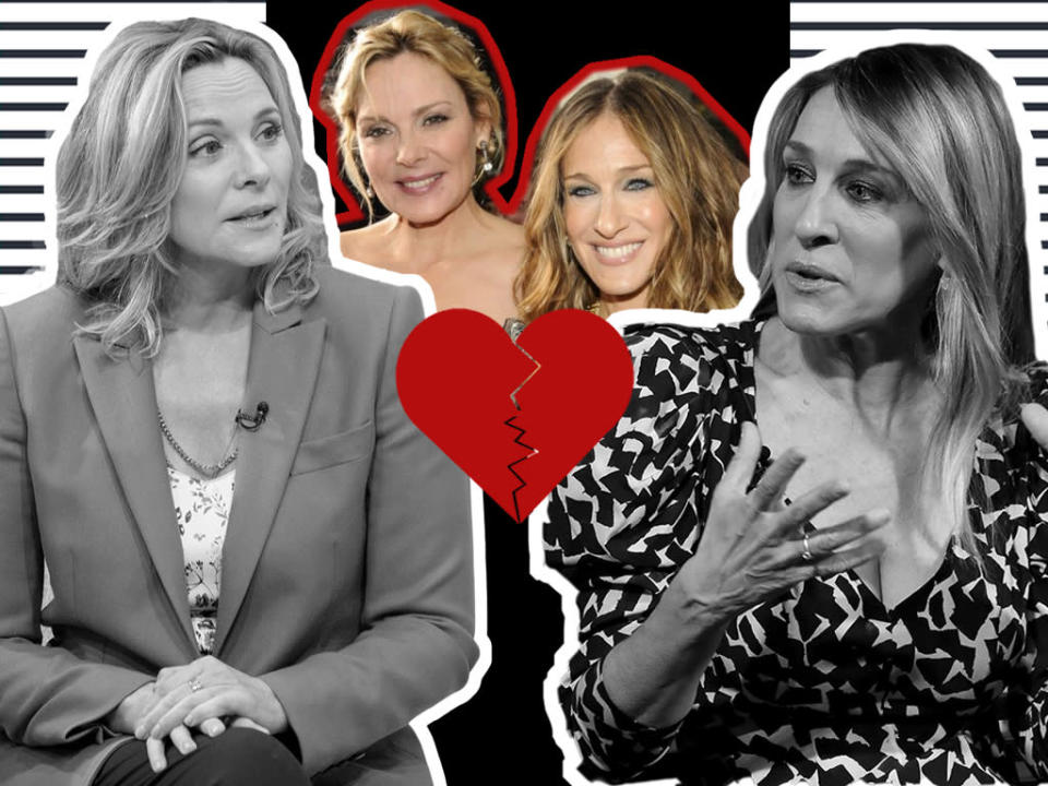 Were Sarah Jessica Parker and Kim Cattrall in a toxic friendship? [Photo: Yahoo Style UK/Getty]