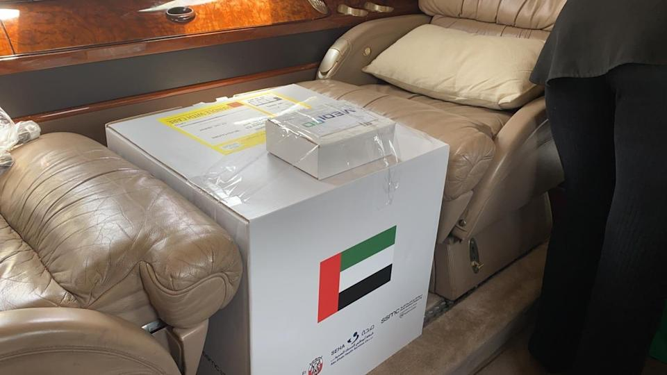 The kidney belonging to a healthy resident of the United Arab Emirates sits in a box between seats on a private jet destined for Israel.