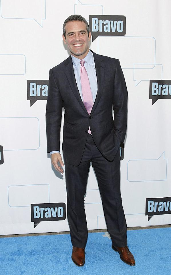 """Um, somebody needs to tell """"Watch What Happens"""" host Andy Cohen -- who also happens to be Bravo's SVP of Programming and Production -- that pairing brown shoes with gray pants is a no-no! Mark Von Holden/<a href=""""http://www.wireimage.com"""" target=""""new"""">WireImage.com</a> - March 10, 2010"""