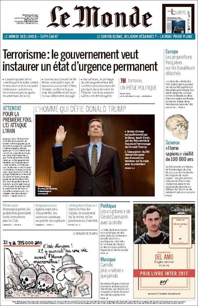 "<p>""Le Monde,"" published in Paris, France. (Le Monde) </p>"