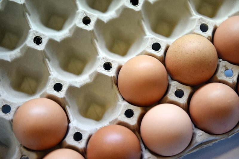 US farmers have been forced to kill almost 40 million chickens and other birds, causing egg prices to soar as a deadly version of the avian flu attacks the poultry industry (AFP Photo/Loic Venance)