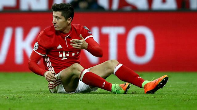 Bayern Munich will face Champions League opponents Real Madrid without Robert Lewandowski, who has failed to recover from a shoulder injury.