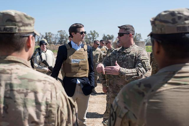 Jared Kushner on a visit to Iraq in April.