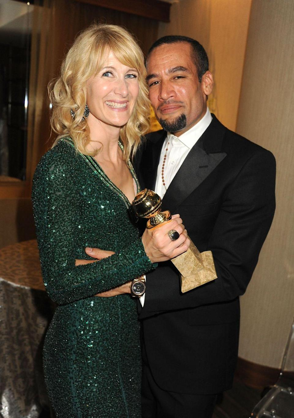 """<p>The<em> Big Little Lies </em>star married the Grammy-winning musician in 2005 in <a href=""""http://people.com/celebrity/actress-laura-dern-marries-ben-harper/"""" rel=""""nofollow noopener"""" target=""""_blank"""" data-ylk=""""slk:a small ceremony"""" class=""""link rapid-noclick-resp"""">a small ceremony</a> at their L.A. home after already having two kids together. In 2010, Ben <a href=""""https://www.hollywoodreporter.com/news/laura-dern-ben-harper-divorce-346393"""" rel=""""nofollow noopener"""" target=""""_blank"""" data-ylk=""""slk:filed"""" class=""""link rapid-noclick-resp"""">filed</a> for divorce, but they appeared to reconcile until 2012, when Laura was the one who filed. The second time stuck, as they were <a href=""""https://www.upi.com/Laura-Dern-is-officially-divorced-from-Ben-Harper/55811378952269/"""" rel=""""nofollow noopener"""" target=""""_blank"""" data-ylk=""""slk:officially divorced"""" class=""""link rapid-noclick-resp"""">officially divorced</a> in 2013. """"It just is what it is,"""" Laura <a href=""""https://www.telegraph.co.uk/culture/film/10887191/Laura-Dern-on-divorce-taking-risks-and-The-Fault-In-Our-Stars.html"""" rel=""""nofollow noopener"""" target=""""_blank"""" data-ylk=""""slk:told The Telegraph"""" class=""""link rapid-noclick-resp"""">told <em>The Telegraph</em></a> in 2014. """"Sadly, half of marriages end in divorce….There's no shame around it—unless you want to project that onto yourself—but certainly, there's no longer cultural shame. Everyone is walking through it.""""</p>"""