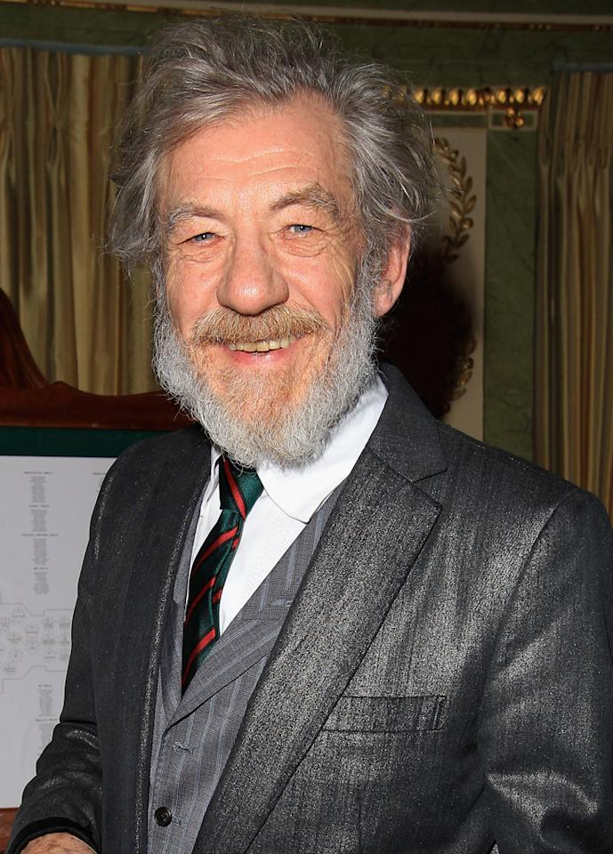 """<a href=""""http://movies.yahoo.com/movie/contributor/1800019000"""">Ian McKellen</a> - Gandalf    Sir Ian McKellen reprises his role of Gandalf from Jackson's hugely successful """"Lord of the Ring"""" trilogy."""