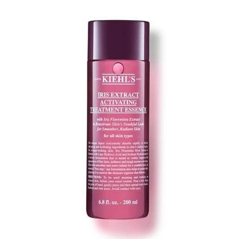"""When the dream is plump, glowing skin but your reality is back-to-back bottomless brunches, you need a product that is more than skin deep. Kiehl's Iris Extract Essence Treatment is described as a 'first step' in an anti-ageing skincare routine, which simply means it tackles fine lines and smooths skin texture with a gentle, lipohydroxy exfoliating acid. Leave-on acid toners like this are ideal if you're new to the exfoliating acid game. After cleansing, pour a few drops into your hands then gently pat into your skin to help prepare it for the other lotions, potions, serums and concentrates in your arsenal.<br><br><strong>Kiehl's</strong> Iris Extract Activating Treatment Essence, $, available at <a href=""""https://www.kiehls.co.uk/kaushals-favourites/iris-extract-activating-essence-treatment/884.html"""" rel=""""nofollow noopener"""" target=""""_blank"""" data-ylk=""""slk:Kiehl's"""" class=""""link rapid-noclick-resp"""">Kiehl's</a>"""
