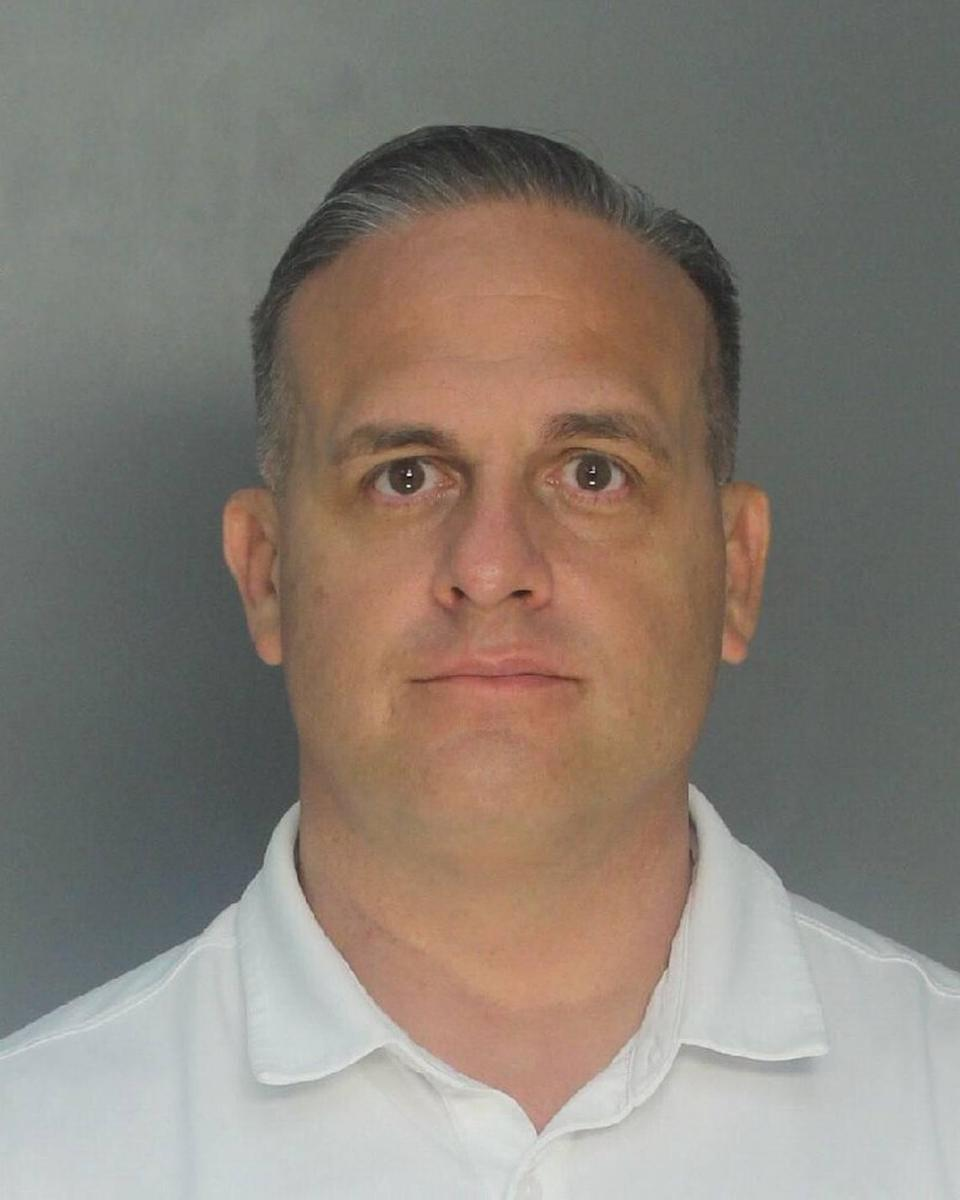 Former state senator Frank Artiles, who is facing felony campaign finance-related charges, is shown in a booking photo taken Thursday, March 18, 2021, at Turner Guilford Knight Correctional Center in Miami.