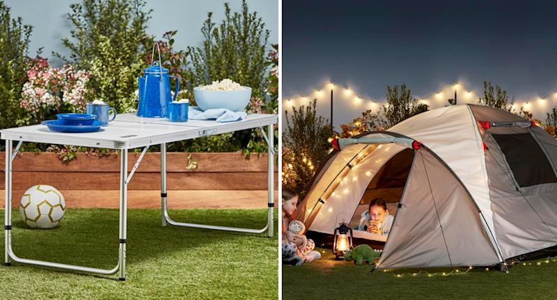 A folding table and four-person tent will feature in Friday's Best Buys. Source: Coles