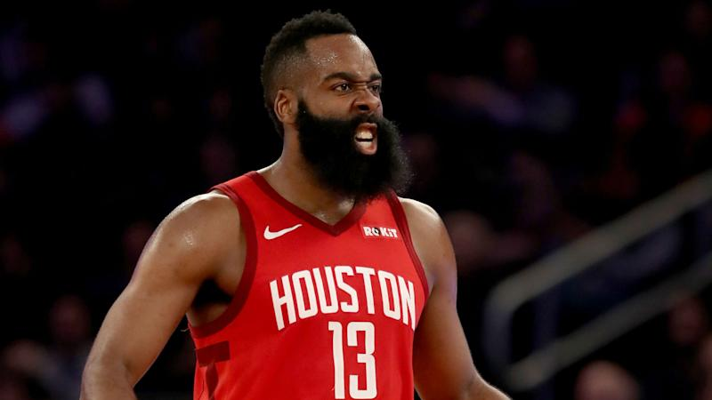 1743f8d466c0 NBA playoffs 2019  James Harden s shimmy slightly mistimed in Game 2