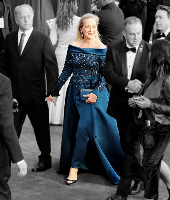 <p>Meryl Streep wore Elie Saab spring 2017 couture to the 89th Annual Academy Awards on February 26, 2017 in Hollywood, California. (Photo: Getty Images) </p>