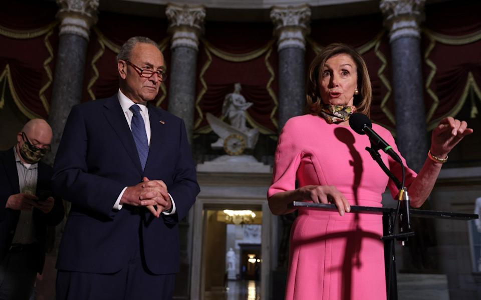 Talks between Chuck Schumer, Nancy Pelosi and the Trump administration broke down on Friday - GETTY IMAGES