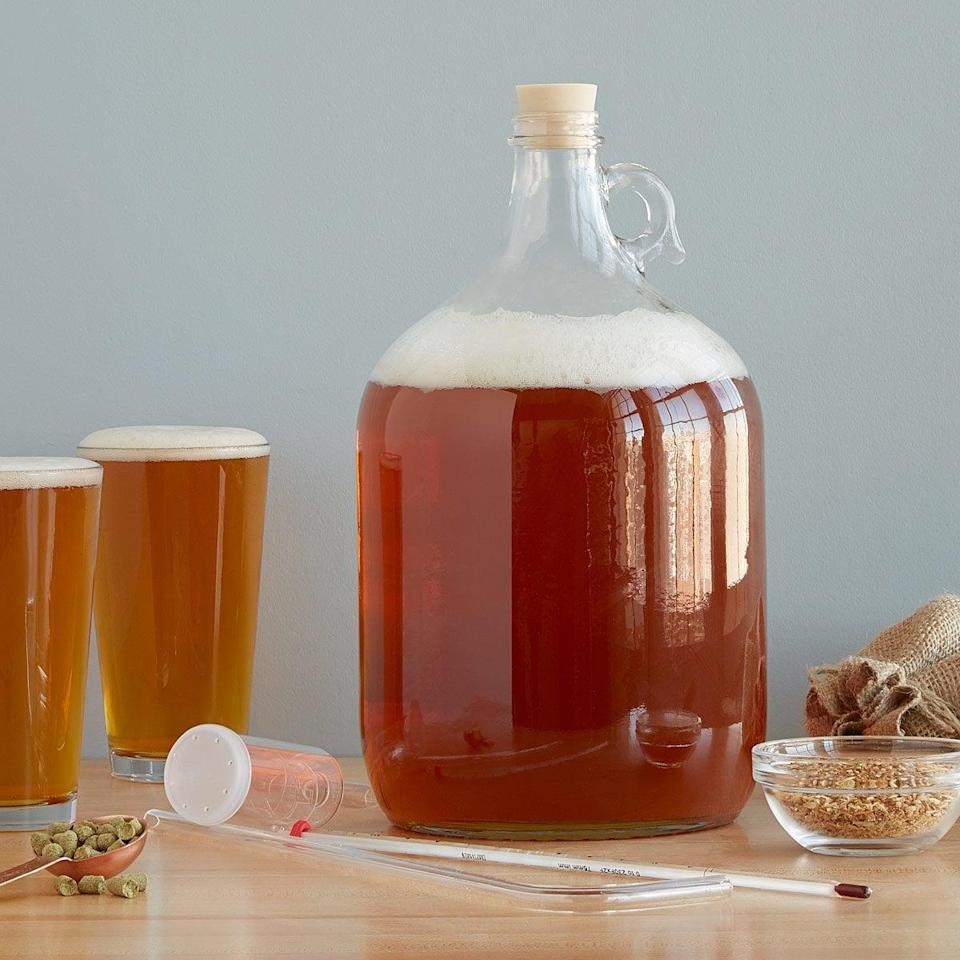 <p>Get him to make his own beer with this <span>West Coast Style IPA Beer Brewing Kit</span> ($45).</p>