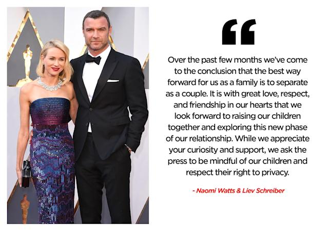 We're still not over Naomi Watts and Liev Schreiber. (Photo: Getty Images/Quinn Lemmers for Yahoo Entertainment)