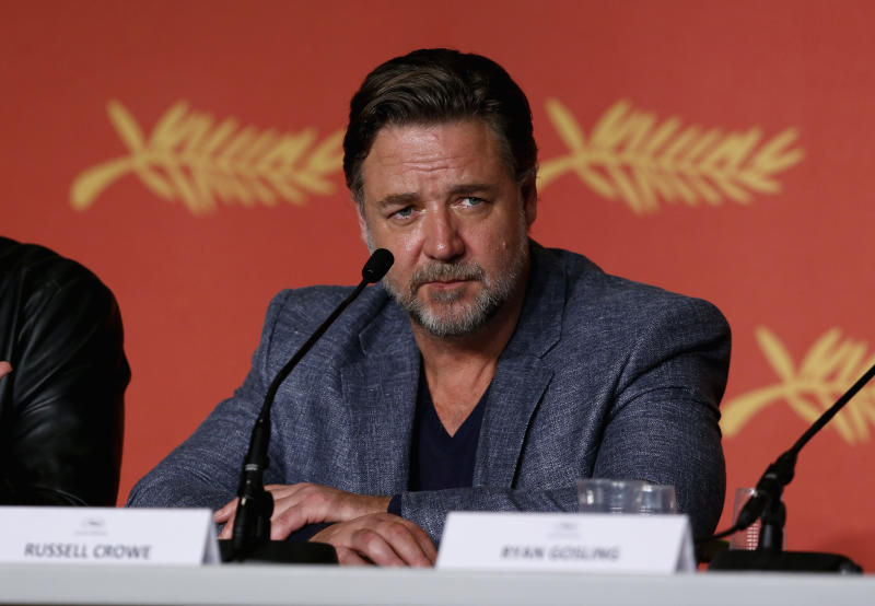 "Russell Crowe at ""The Nice Guys"" Press Conference in France"